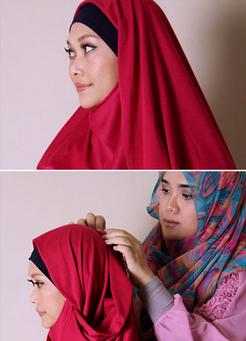 Tutorial Hijab Pasmina Polos yang Praktis dan Stylish
