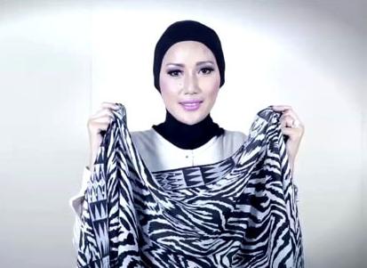 Tutorial Hijab Pasmina Menjadi Turban yang Cantik 1