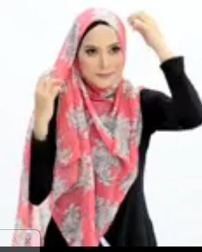 Tutorial Hijab Pasmina Motif Menutup Dada – Simpel Elegan