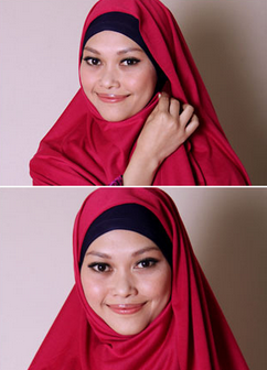 Tutorial Hijab Pasmina Polos yang Praktis