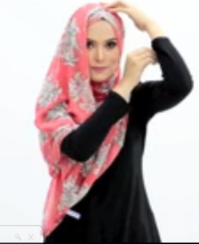 Tutorial Hijab Pasmina Motif Menutup Dada 4.1