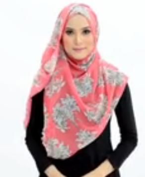 Tutorial Hijab Pasmina Motif Menutup Dada 5