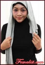 Tutorial Hijab Pasmina Polos 1
