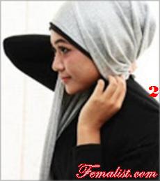 Tutorial Hijab Pasmina Polos 2