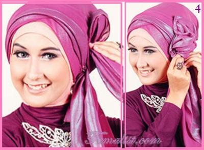 Cara Memakai Hijab Pasmina untuk ke Pesta