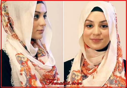 Tutorial Hijab Pasmina Motif Menutup Dada Praktis dan Manis