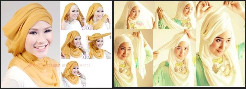 Kumpulan Tutorial Hijab Segi Empat Terbaru 2014 0