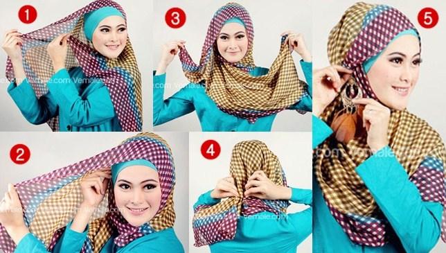 Kumpulan Tutorial Hijab Segi Empat Terbaru 2020 2021 1