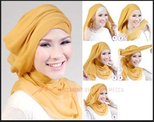 Kumpulan Tutorial Hijab Segi Empat Terbaru 2020 2021 10
