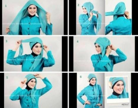 Kumpulan Tutorial Hijab Segi Empat Terbaru 2014 2