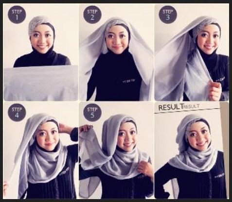 Kumpulan Tutorial Hijab Segi Empat Terbaru 2014 3