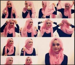 Kumpulan Tutorial Hijab Segi Empat Terbaru 2014 5