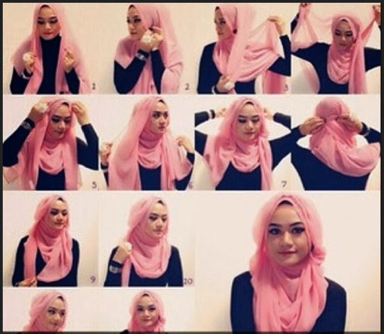 Tutorial Hijab Paris Segi Empat Terbaru 2014 Cara | Tattoo Design Bild