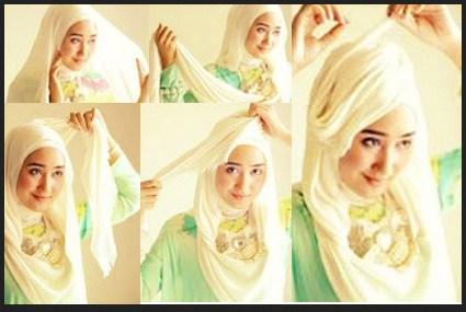 Kumpulan Tutorial Hijab Segi Empat Terbaru 2014 6