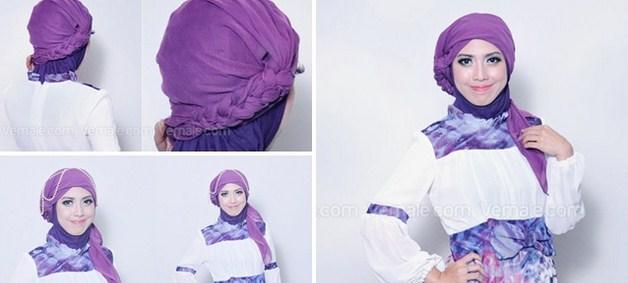 Kumpulan Tutorial Hijab Segi Empat Terbaru 2014 7