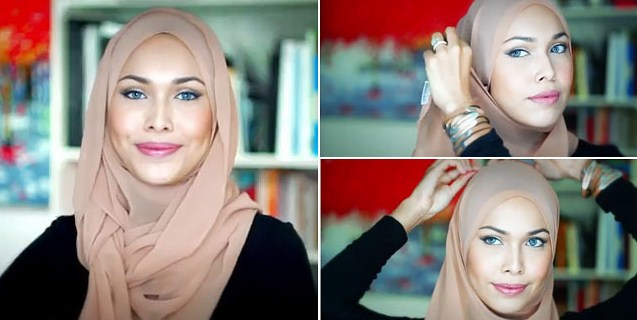 Kumpulan Tutorial Hijab Segi Empat Terbaru 2014 8