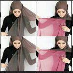 Kumpulan Tutorial Hijab Segi Empat Terbaru 2014 9