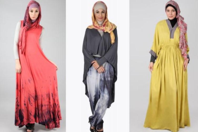 Baju dan Busana Muslim Modern Terbaru 1 - Warna Orange, Kuning, Abu-abu