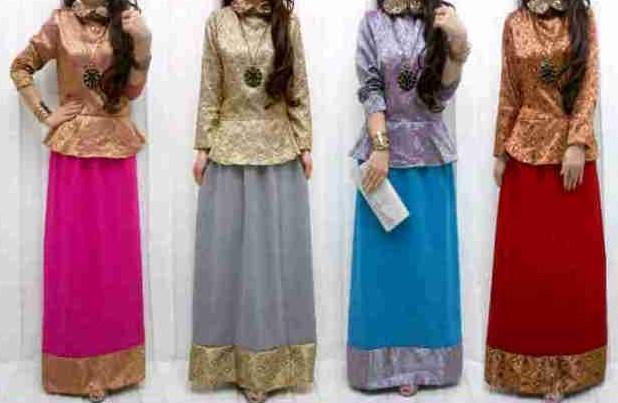 Baju dan Busana Muslim Modern Terbaru 2 - Batik Warna Pink, Biru Toska, Abu-abu, Merah