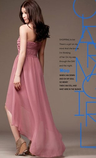 Model Dress Korea Panjang 2 - Peach pink berekor