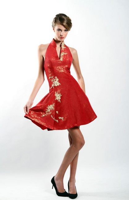 Cheongsam Dress 5 - Warna Meeah A Line Modern