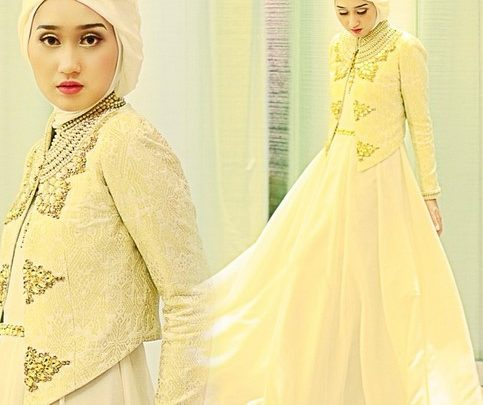 Kumpulan Long Dress Dian Pelangi Terbaru Cantik 5 - Dress Gold Cantik