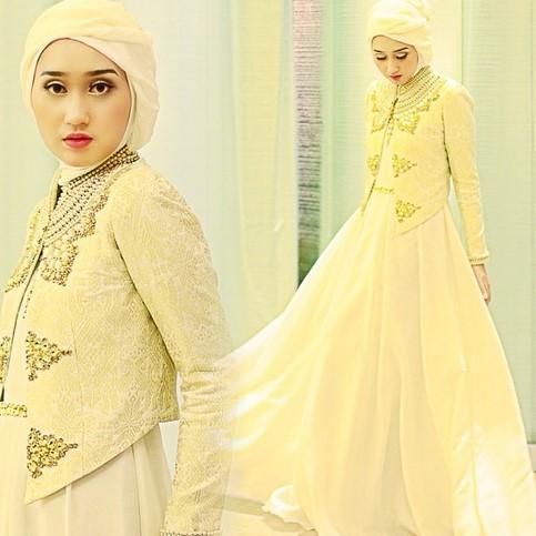 Kumpulan Long Dress Dian Pelangi Terbaru Cantik 5 - Dress Gold Cantik