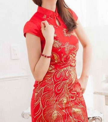 Model Dress Modern 1 - Warna Merah Gold