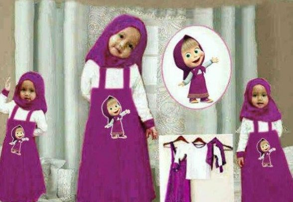 Tips Oke Memilih Baju Muslim Anak 4 - Busana Muslim Anak-Anak Marsha And The bear