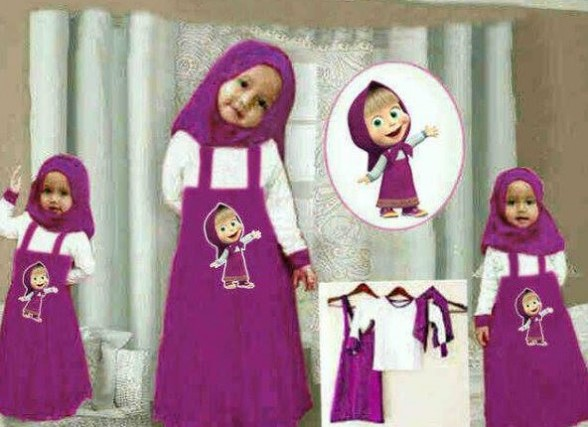 Tips Oke Memilih Baju Muslim Anak 4 - Busana Muslim Anak-Anak Marsha And The bear