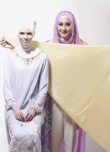Tutorial Hijab Segiempat ala Dian Pelangi 1 - Step dan Langkah pertama
