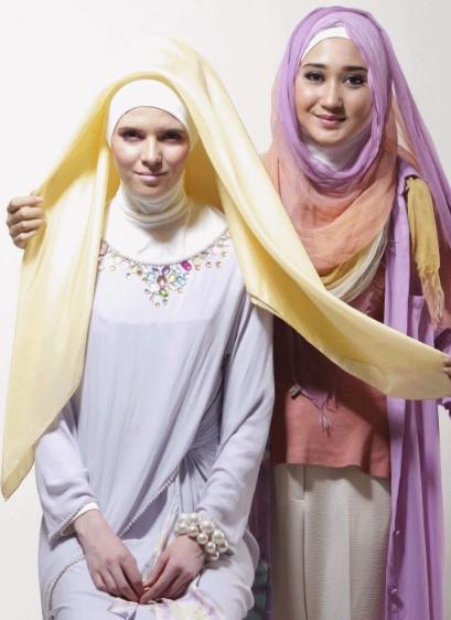 Tutorial Hijab Segiempat ala Dian Pelangi 2 - Langkah Kedua