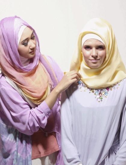 Tutorial Hijab Segiempat ala Dian pelangi 4 - Langkah dan Step Keempat