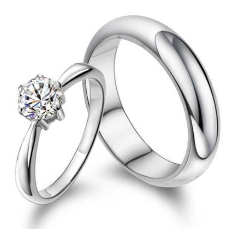 gambar foto model cincin tunangan 3 - Cincin emas putih simpel cowok cewek