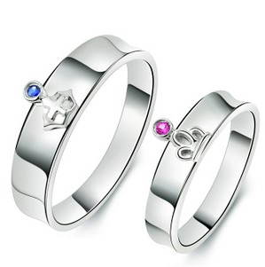 gambar foto model cincin tunangan 6 - Emas Putih mahkota Raja dan Ratu