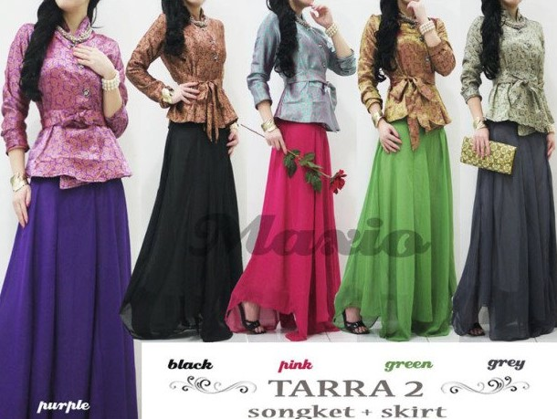Baju Dress Songket 3 - BAwahan Sifon