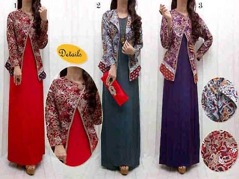 Baju dress Songket 2 - Dress Polos Baju Songket
