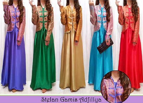 baju dress songket 5 - Model Kancing Modern