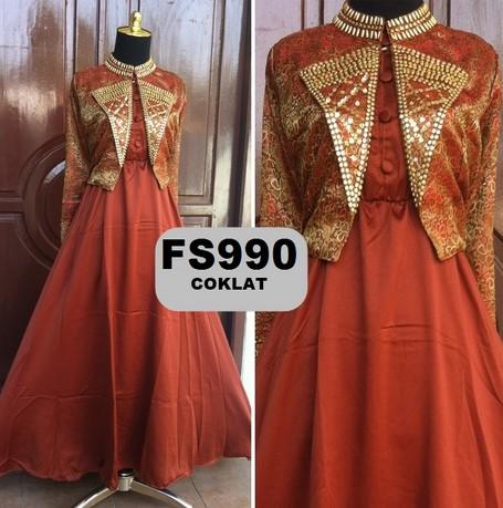 baju dress songket 6 - Busana Muslimah