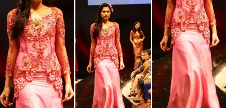 Foto Gaun Kebaya Muslimah Cantik 4 - warna Pink Atasan bawahan bukan dress