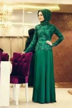 Foto Gaun Kebaya Muslimah Cantik 6 - Hijau Obi