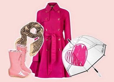 Tips Fashion Saat Musim Hujan Disertai Gambar 1 - Warna Pink dan Sepatu But