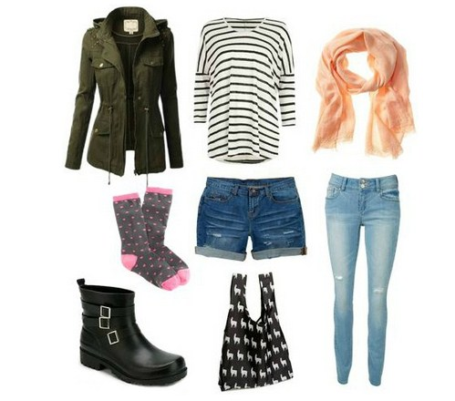 Tips Fashion Saat Musim Hujan Disertai Gambar 7 - Busana Kasual Saat Hujan