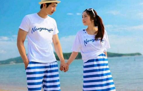 Contoh Baju Couple Valentine Terbaru dan Tips Memilih 5 - Motif Garis Horizontal