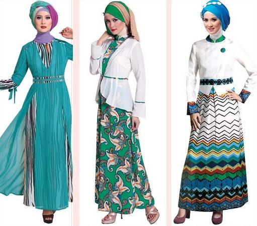 Contoh Model Baju Muslim Modern 2020 - 1 Motif versus Polos