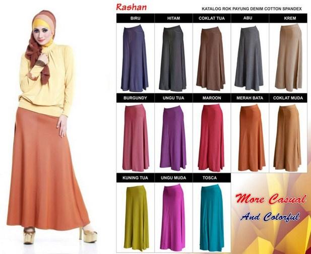 Contoh Model baju Muslim Modern 2020 - 5 Rok Panjang Payung