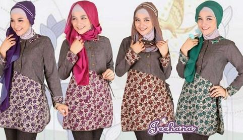 Baju Muslim Trendy untuk Anak Muda Terkini 2 - Bunga Polos