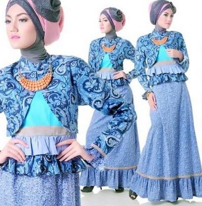 Baju Muslim Trendy untuk Anak Muda Terkini 4 - Batik Biru