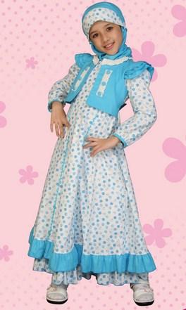 Contoh Baju Muslim Anak Keren Model Terbaru 2015 4 - Cantik Baju Anak Putri Muslimah