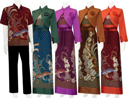 10 contoh baju muslim batik modern 2015 Baju gamis versi 2015
